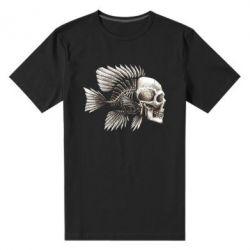 Мужская стрейчевая футболка Рыба-череп