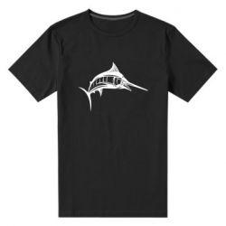 Мужская стрейчевая футболка Рыба Марлин - FatLine
