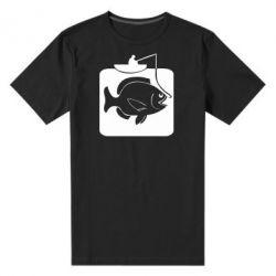 Мужская стрейчевая футболка Рыба на крючке - FatLine