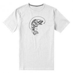 Мужская стрейчевая футболка Рыба - FatLine