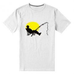 Мужская стрейчевая футболка Рыбак
