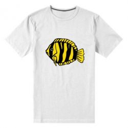 Мужская стрейчевая футболка рыбка - FatLine