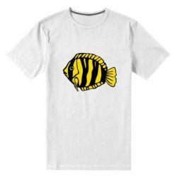 Чоловіча стрейчова футболка рибка - FatLine