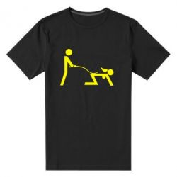 Мужская стрейчевая футболка Садо-мазо - FatLine