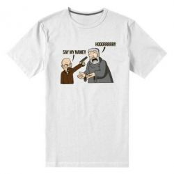 Мужская стрейчевая футболка Say my name!! - FatLine