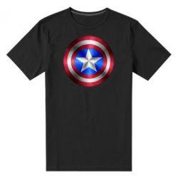 Мужская стрейчевая футболка Щит Капитана Америка - FatLine