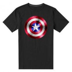 Мужская стрейчевая футболка Щит кэпа - FatLine