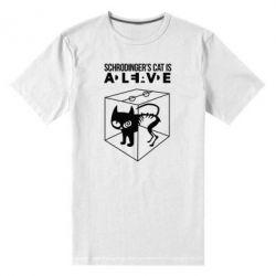 Мужская стрейчевая футболка Schrodinger's cat is alive - FatLine