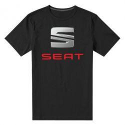 Мужская стрейчевая футболка Сеат - FatLine