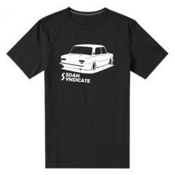 Мужская стрейчевая футболка Седан синдикат
