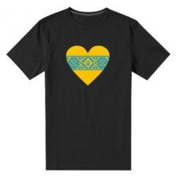 Мужская стрейчевая футболка Серце України - FatLine