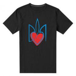 Мужская стрейчевая футболка Серце з гербом - FatLine