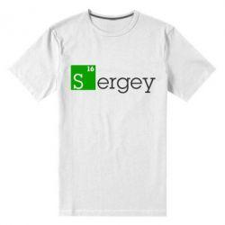 Мужская стрейчевая футболка Sergey - FatLine