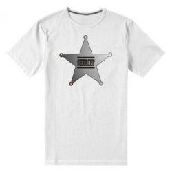 Мужская стрейчевая футболка Sheriff - FatLine