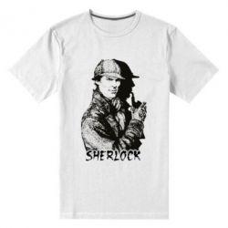 Мужская стрейчевая футболка Шерлок рисунок