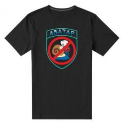 Мужская стрейчевая футболка Шеврон Анти Аватар - FatLine