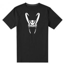Мужская стрейчевая футболка Шлем Локи - FatLine
