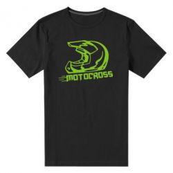 Мужская стрейчевая футболка Шлем Мотокросс - FatLine
