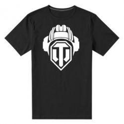 Мужская стрейчевая футболка Шлем WOT - FatLine