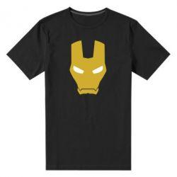 Мужская стрейчевая футболка Шлем Железного Человека - FatLine