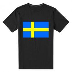 Мужская стрейчевая футболка Швеция - FatLine