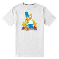 Мужская стрейчевая футболка Simpsons Family - FatLine