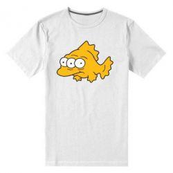 Мужская стрейчевая футболка Simpsons three eyed fish - FatLine