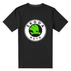 Мужская стрейчевая футболка Skoda Auto - FatLine