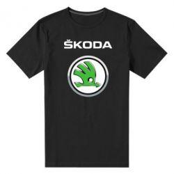 Мужская стрейчевая футболка Skoda Logo 3D - FatLine