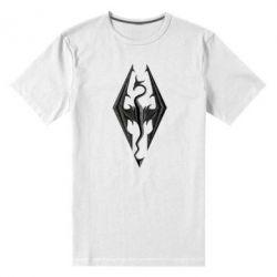 Мужская стрейчевая футболка Skyrim Logo 3D - FatLine
