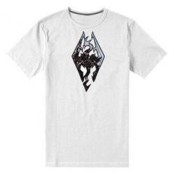 Мужская стрейчевая футболка Skyrim Logo - FatLine