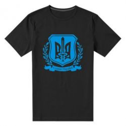 Мужская стрейчевая футболка Слава Україні (вінок) - FatLine