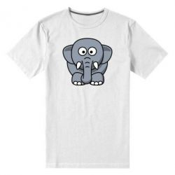 Мужская стрейчевая футболка Слоник - FatLine