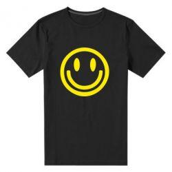 Мужская стрейчевая футболка Смайлик - FatLine