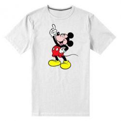 Мужская стрейчевая футболка Смотри вверх - FatLine