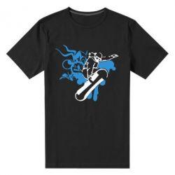 Мужская стрейчевая футболка Сноуборд - FatLine