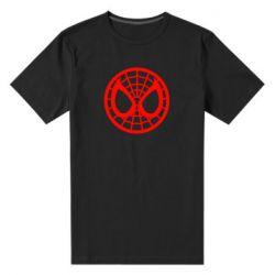 Мужская стрейчевая футболка Спайдермен лого - FatLine