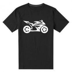 Мужская стрейчевая футболка Спортивный байк - FatLine