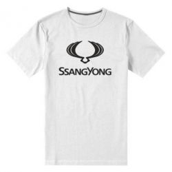 Чоловіча стрейчева футболка SsangYong Logo