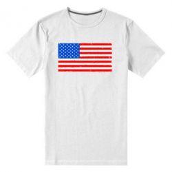 Мужская стрейчевая футболка США - FatLine