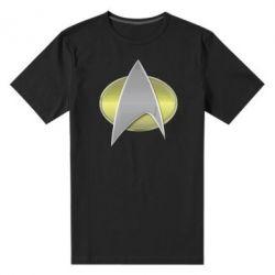 Мужская стрейчевая футболка Star Trek Gold Logo - FatLine