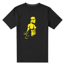 Мужская стрейчевая футболка Star Wars с гантелей - FatLine