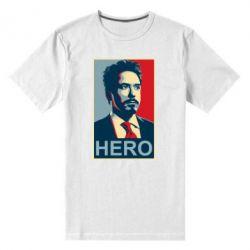 Мужская стрейчевая футболка Stark Hero - FatLine