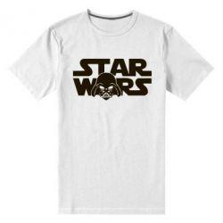 Мужская стрейчевая футболка StarWars Logo - FatLine