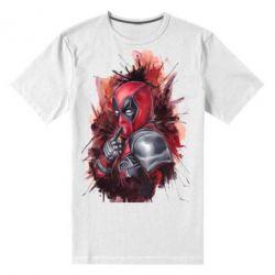 Мужская стрейчевая футболка Стесняшка Deadpool - FatLine