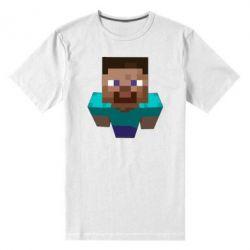 Мужская стрейчевая футболка Steve from Minecraft - FatLine