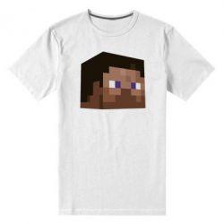 Мужская стрейчевая футболка Steve Minecraft - FatLine