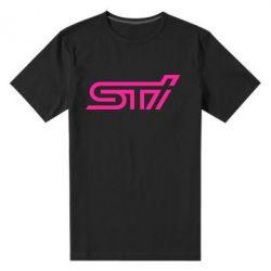Мужская стрейчевая футболка STI Logo - FatLine