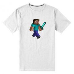 Мужская стрейчевая футболка Стив - FatLine