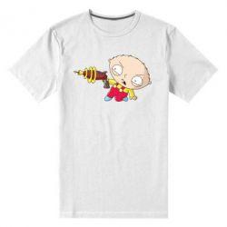 Мужская стрейчевая футболка Стьюи с бластером - FatLine